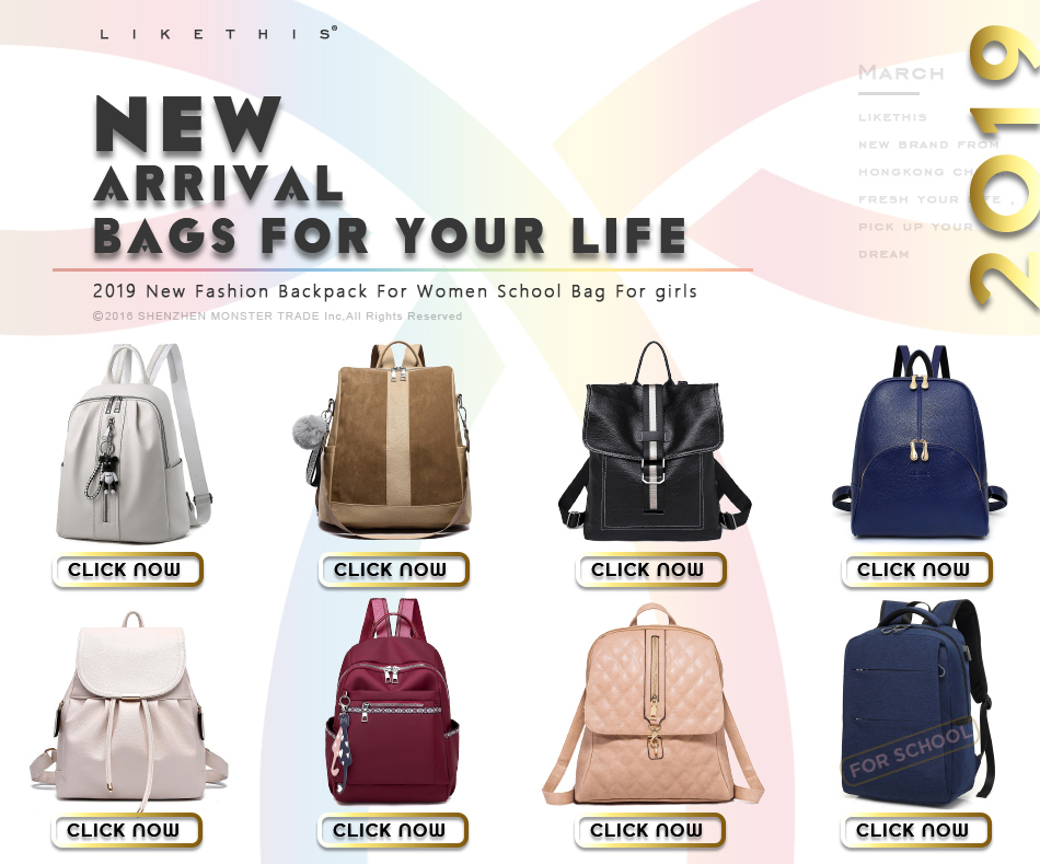 HTB1MktSN4TpK1RjSZR0q6zEwXXaV LIKETHIS Backpack In Women's Casual PU Leather Knapsack Travel Mochila Escolar Masculina Backpack Zainetto Donna Lady Solid New