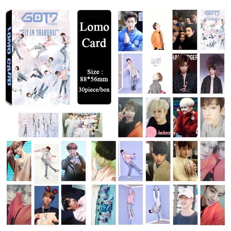 30piece Youpop Wholesale KPOP Fan GOT7 JB Mark Jackson Album Fly Small Lomo Photos Cards Photocard