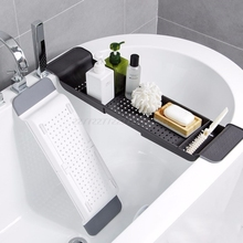 Banheira banheira prateleira caddy chuveiro expansível titular rack de armazenamento bandeja sobre banho organizador multifuncional a10 19 dropship
