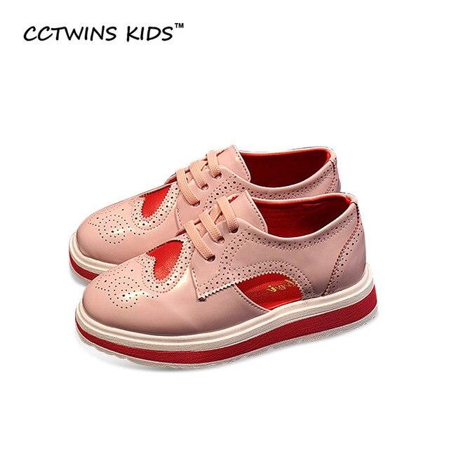 CCTWINS KIDS 2017 Baroque Platform Baby Boy Brand Pu Leather Hollow Loafer Toddler Children Fashion Girl Brand Pink Shoe G1078