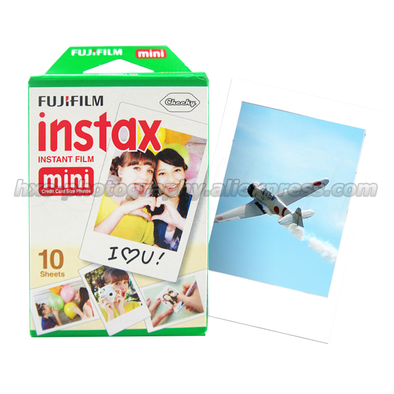 100 Original Fujifilm Fuji Instax Mini 8 Film Blanc 10pcs Photo Paper For Polaroid 7s 8
