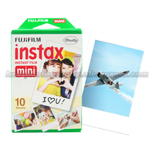 100% original fujifilm fuji instax mini 8 película blanc 10 unids papel fotográfico para polaroid 7 s 8 90 25 55 compartir sp-1 mini cámara instantánea