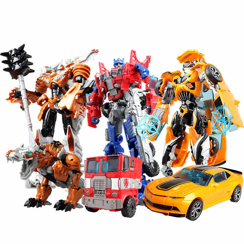 19cm Transformation Robot Car plane Toys For Bumblebee Optimus Prime Fornite Tobot Action Figure Gift For Kids Super Hero