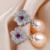 Oro blanco Anillos de Sistemas de La Joyería de Cristal de Circón AAA Perlas Pendientes Collar Colgante de Joyería Fija Para Las Mujeres Precio Más Bajo