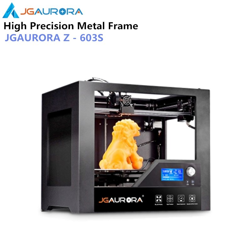 JGAURORA Z-603S 3D Printer Full Metal Frame with Heated Bed High Precision 280*180*180mm (11*7.1*7.1in) Build Size 3d Printing upgarded aluminium cube 3d printer kits bapasco x5 full metal extrusion high precision 12864p lcd big printing size 210 210 280