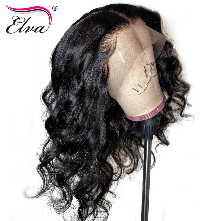 180 Density 360 Lace Frontal Wig Pre Plucked Brazilian Short Human Hair Wigs With Baby Hair