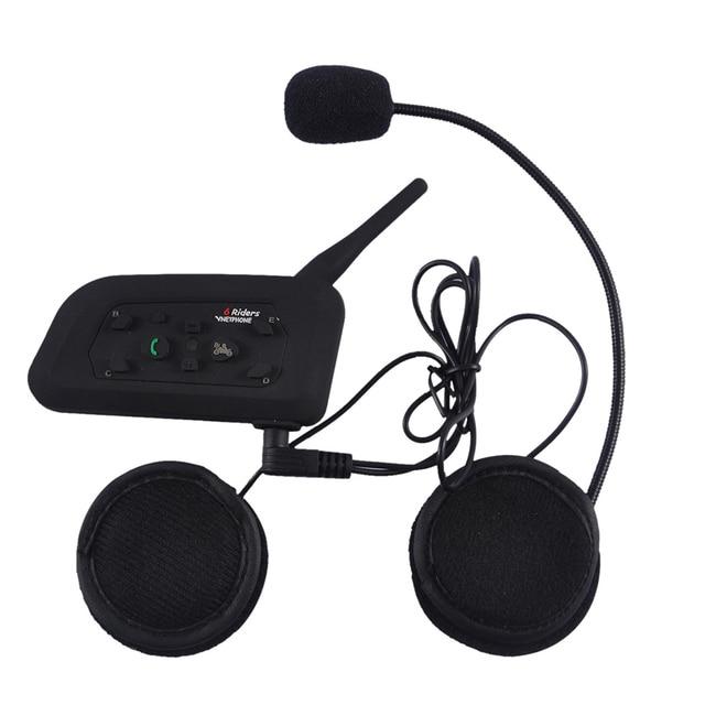 3b88f38b0cf V6-1200M Motorcycle Helmet BT Intercom Bluetooth Headset Wireless  Interphone Rider Headphone Suitable For Football