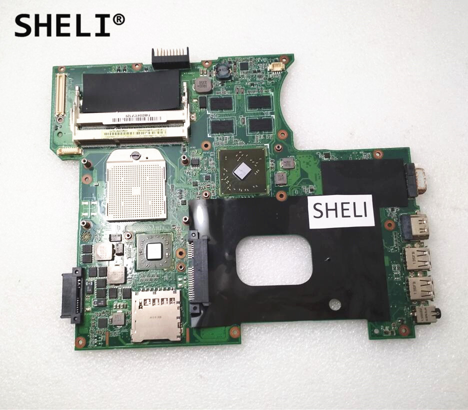 SHELI For ASUS K42DY A42D X42D K42DR K42D K42DE Motherboard with HD5470 Video Card k42dr hd5470 1gb mainboard rev 2 3 for asus a42d k42d k42dy k42dr laptop motherboard 2 slots 100% tested working free shipping