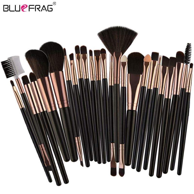 все цены на 25/20pcs Makeup Brushes Beauty Tool Set Foundation Blending Blush Eye Shadow Brow Lash Fan Lip Face Make Up Brush kabuki Kit онлайн