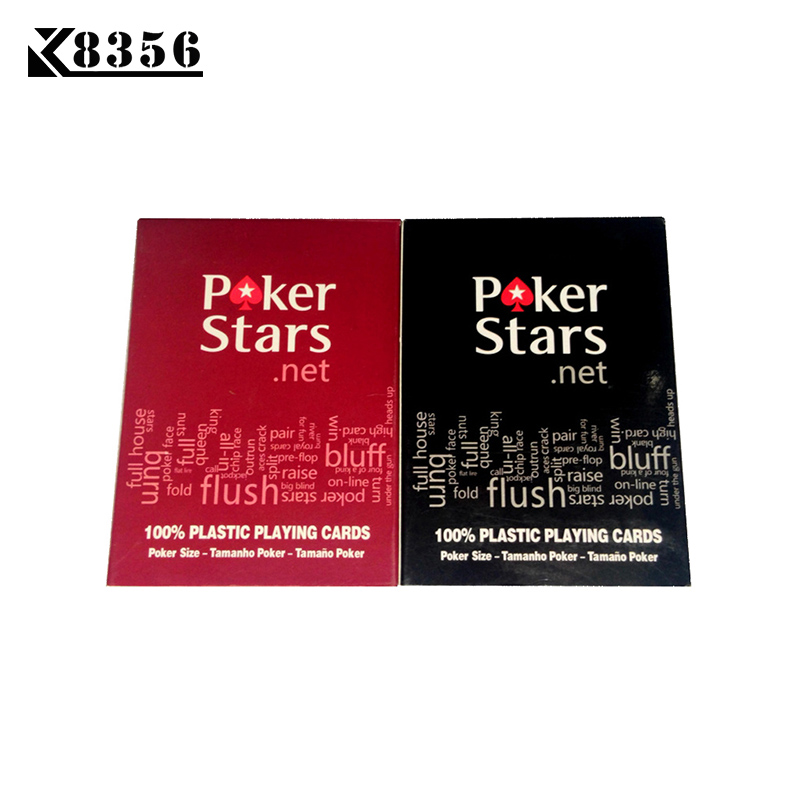 K8356 New Baccarat Texas Holdem Plastic PVC Playing Cards Waterproof Frosting Poker Cards Pokerstar Board Games 2.48*3.46 inch ...
