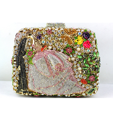 Luxury Cheap Clutch Bag in Mini Size Beaded Fashion Handbags for Women Wedding Occasion Crystal Evening Clutches on Sale
