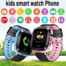 f1f179f4812 2019 Nova Moda Crianças Relógio Inteligente com Tela Sensível Ao Toque GPS  GSM SOS Crianças Despertadores
