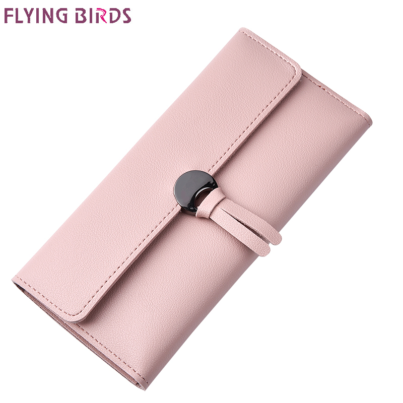 Flying birds women wallets fashion women leather purse dollar price Solid clutch Women's bag cards holder long coin purse a3499 yuanyu 2018 new hot free shipping real python leather women clutch women hand caught bag women bag long snake women day clutches