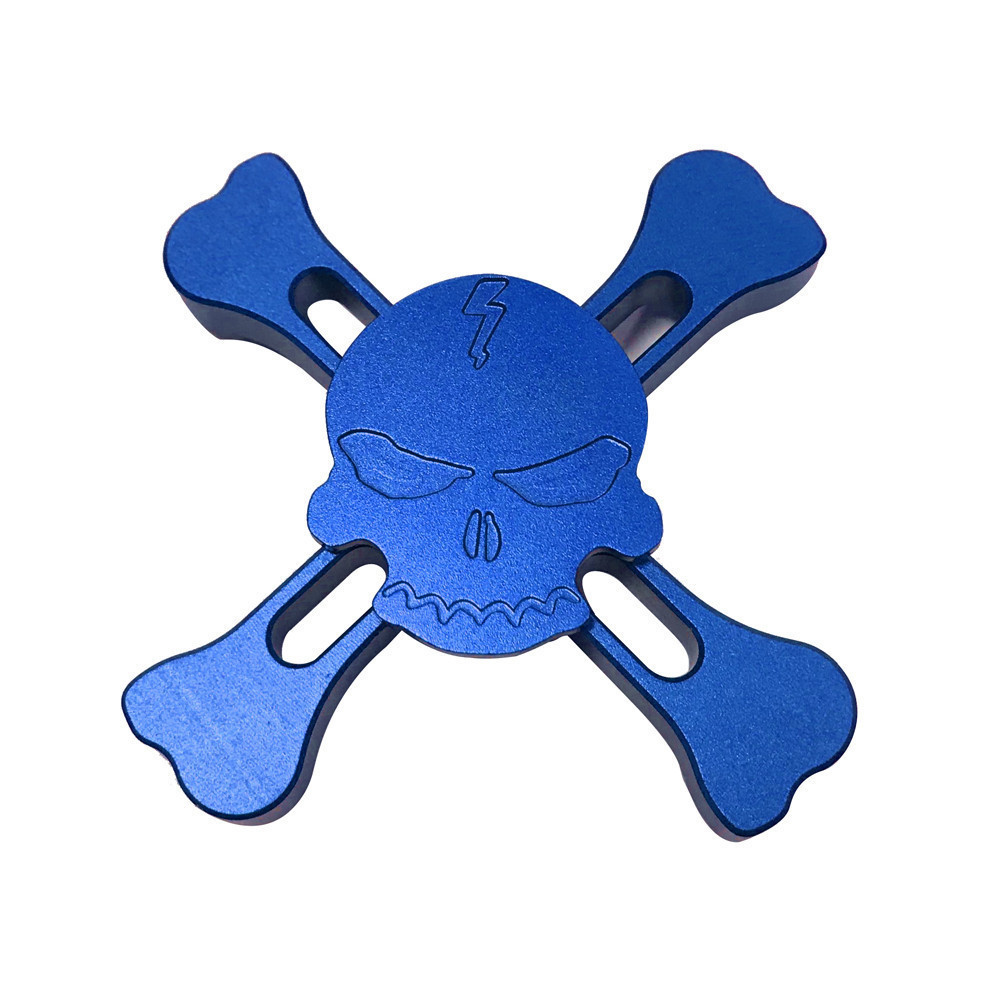 New Original Skull Torqbar Brass Fidget Hand Spinner Tri spinner For Adult To Reduce Pressure Fidget