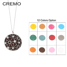 цена на Cremo Stainless Chain Necklace Round Star Pendant Necklace Interchangeable Leather Charm Necklace Women Necklaces & Pendants