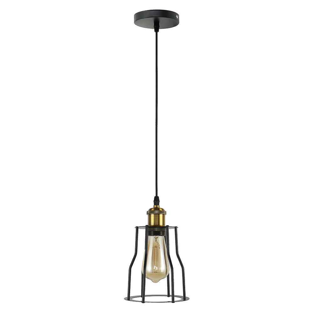 Винтажный стиль железная ретро люстра для обеденной зоны Промышленная клетка Настенный светильник лампа США/Европейские правила E26/E27
