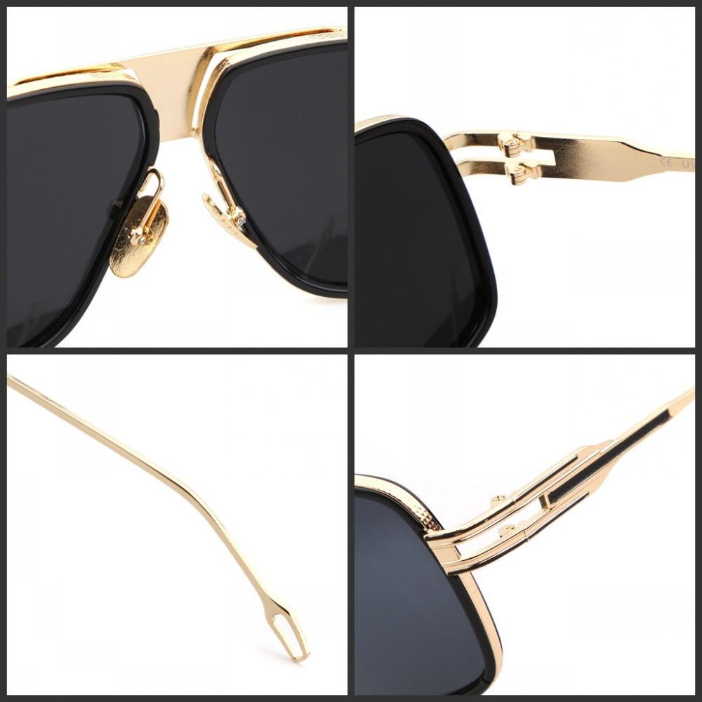 Mjeshtër i ri i mbërritjes Sunglasses gra / burra 18K Glod Sunglass - Aksesorë veshjesh - Foto 3