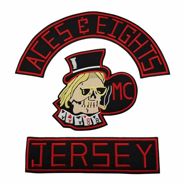NEW ARRIVAL MC ACES EIGHTS JERSEY EMBROIDERY PATCH