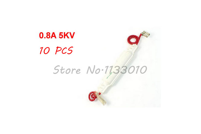Promotional Equipment Microwave Oven Spare Parts 0 8a Amp 5kv High Voltage Fuse Holder 10 Pcs