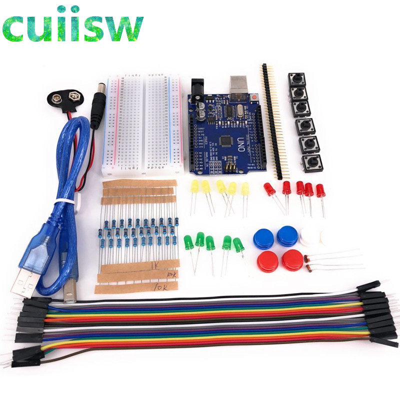 Starter Kit 13 In 1 Kit New Starter Kit  Mini Breadboard LED Jumper Wire Button For Arduino Compatile With UNO R3