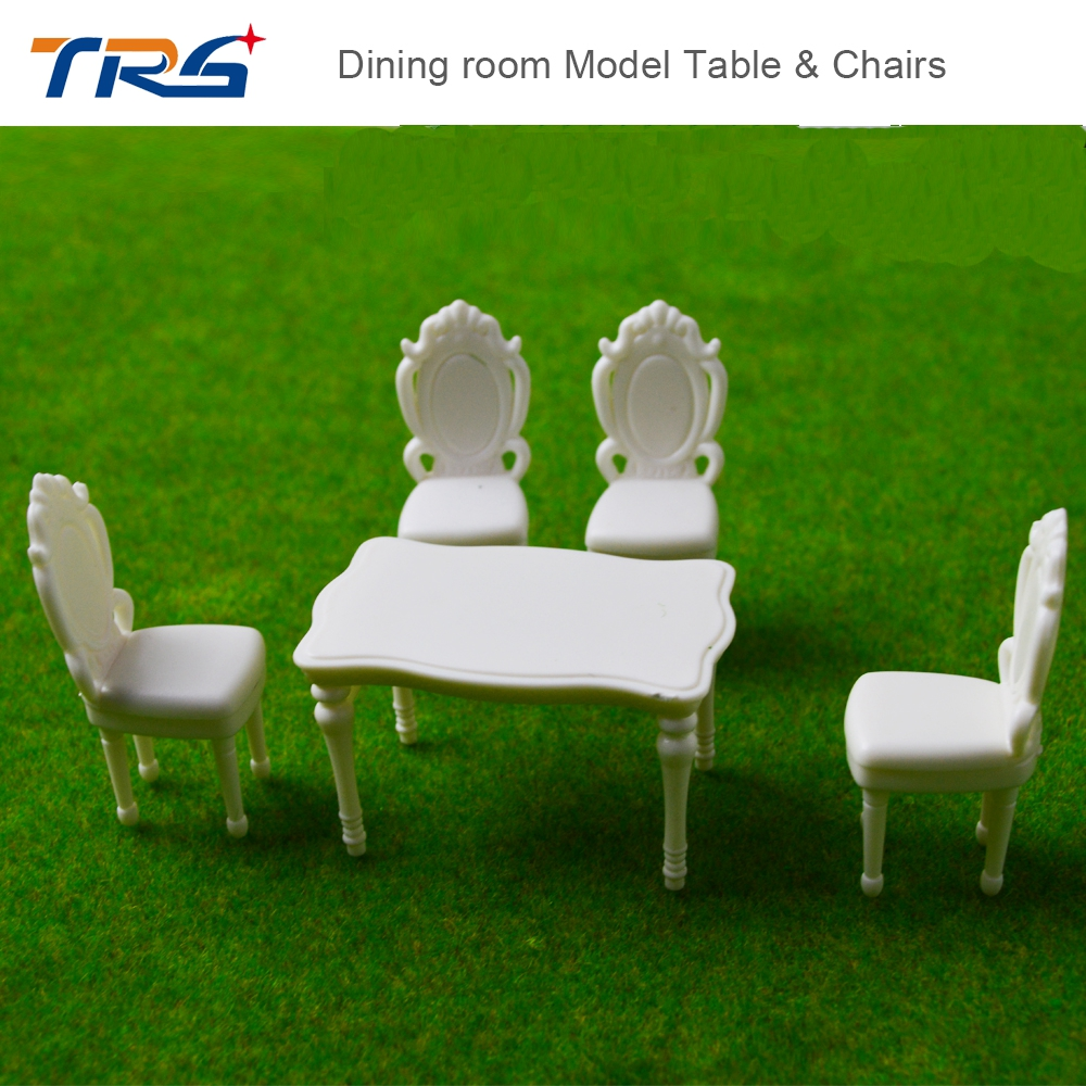 10 SETS Model Set Round Dining Table With 4 Chairs Scale 125 Indoor