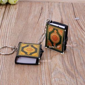 Image 4 - Mini arche livre coran vrai papier peut lire arabe le coran porte clés bijoux musulmans