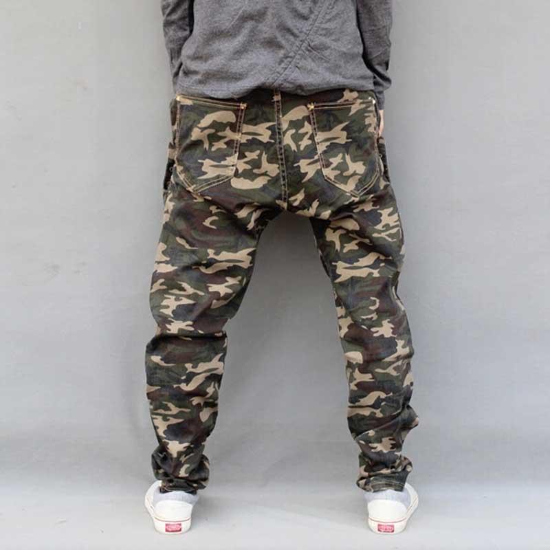 Mænds Militære Camouflage Harem Jeans Bomuld Plus Størrelse Hip - Herretøj - Foto 5