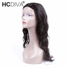 Long Human Hair Wigs 24 inch Black Color For Woman Peruvian Non-Remy Human Hair Wigs Non Lace HCDIVA Hair