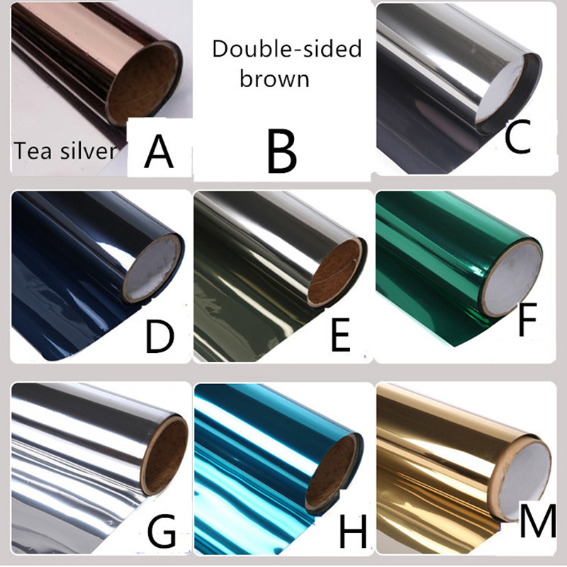 80cm wide glass film silver mirror one way insulation film for Mirror 80cm wide
