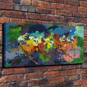 Pintura en lienzo con impresión de colores de música y eventos deportivos de LeRoy Neiman, decoración para el hogar, decoración para el hogar, arte Mural moderno, pintura al óleo #002