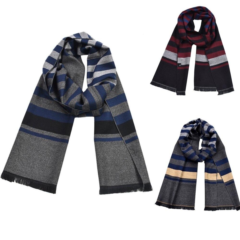 Men cashmere Scarf luxury Brand design casual scarves winter wear