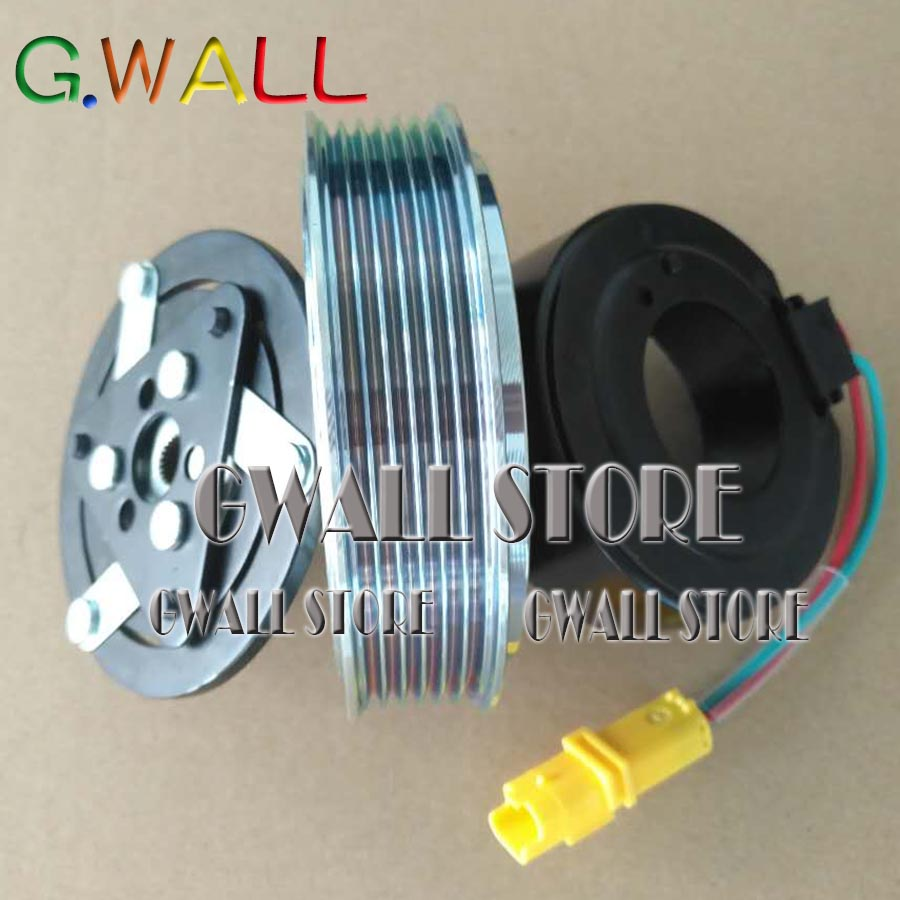 For Peugeot 206 307 Brand New Air Conditioning Compressor Clutch Include three parts : Pulley and hub and coil new air conditioning compressor 20y 810 1260 for new pc200 8 pc220 8