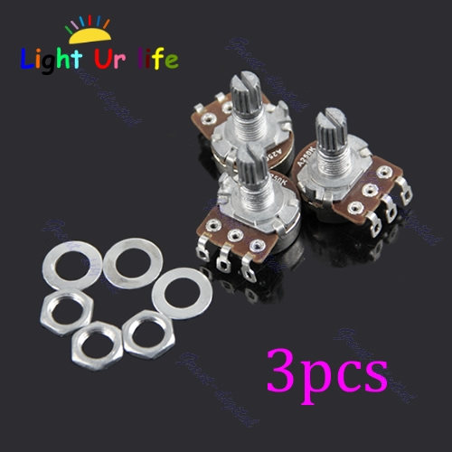 Guitar Potentiometer A250k Split Shaft Pots Audio Tone Switch Control 3 Pcs-25