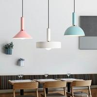 Modern Nordic LED Pendant Lamp Danish Designer Pendant Light Cafe Lamp Macaroons Multicolor Hanging Light Fixtures Free Shipping