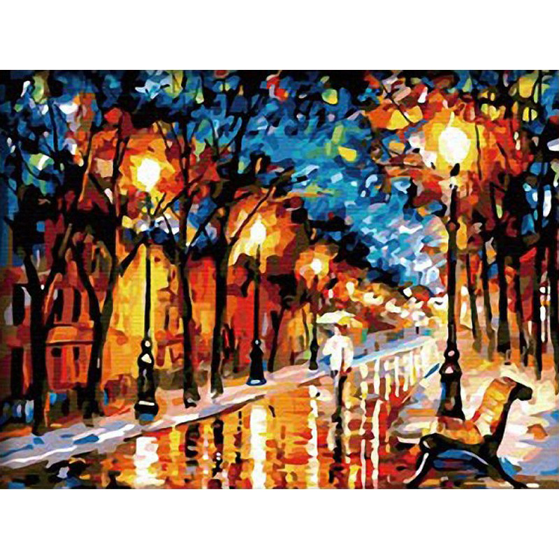 0329ZC004 Home wall furniture Decorations DIY number painting children Graffiti enjoy walking alone painting by numbers