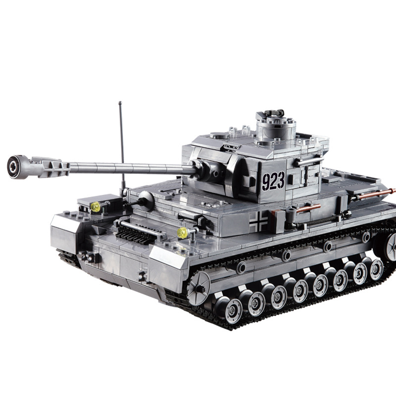 1193pcs Military Tank Assembly Model Building Blocks World War II Panzerkampfwagen IV Tank Model Tiger Tank for Child Gift keith d dickson world war ii for dummies®