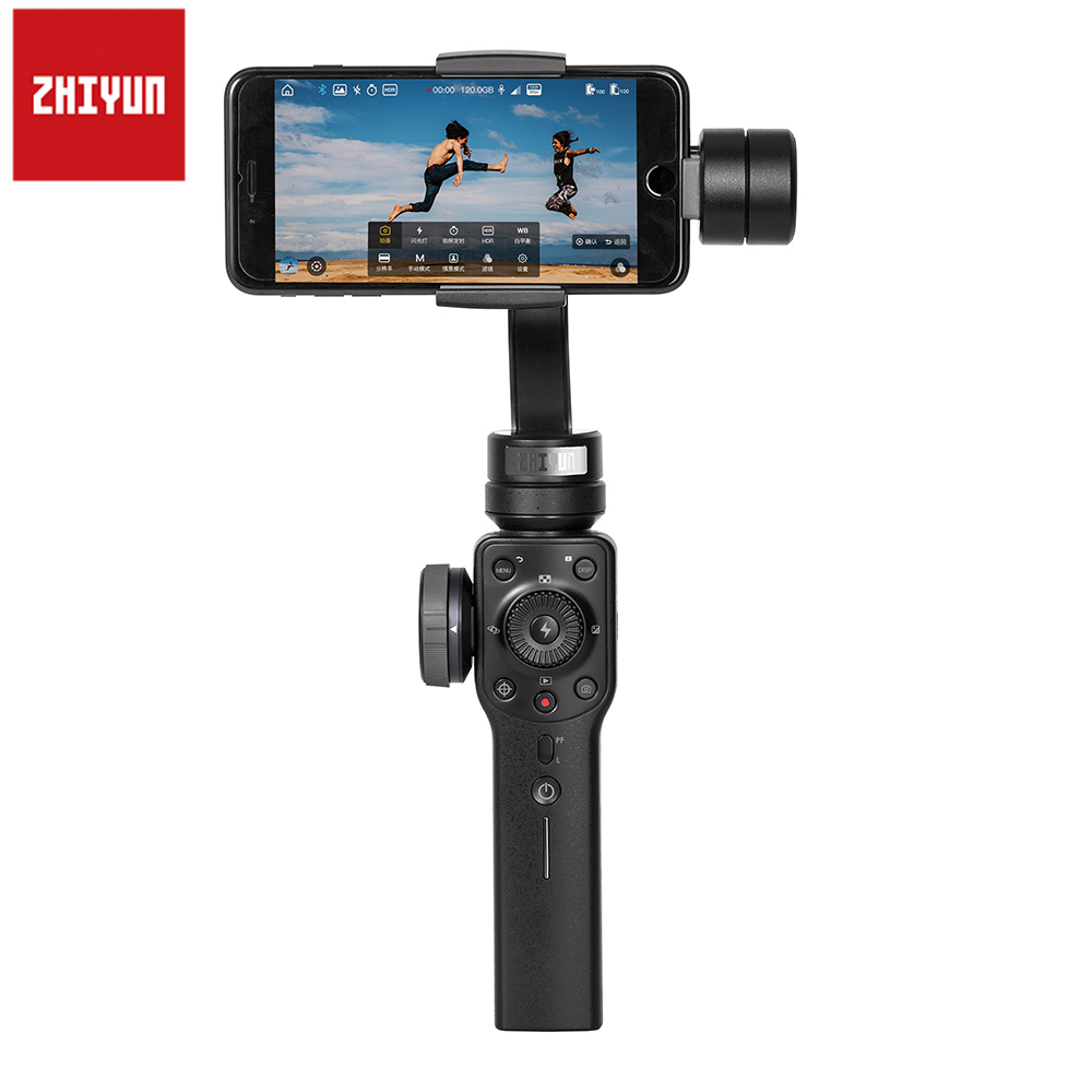 Zhiyun Smooth 4 3-Axis Handheld Gimbal Stabilizer 3-Axis Camera Gopro Phone Mobile Gimbal Remote For IPhone X Samsung S9 Xiaomi