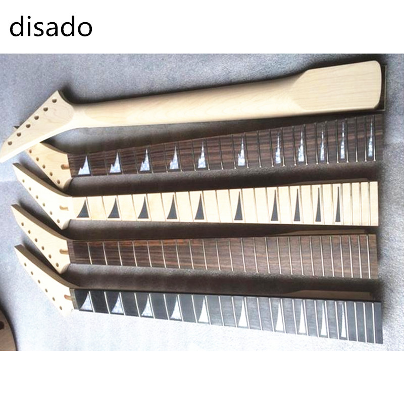 disado 24 Fret Maple Electric Guitar Neck Rosewood Fingerboard Guitar accessories Parts Musical instruments maple guitar neck for electric guitar neck rosewood fingerboard 22 fret white dots acurated heel