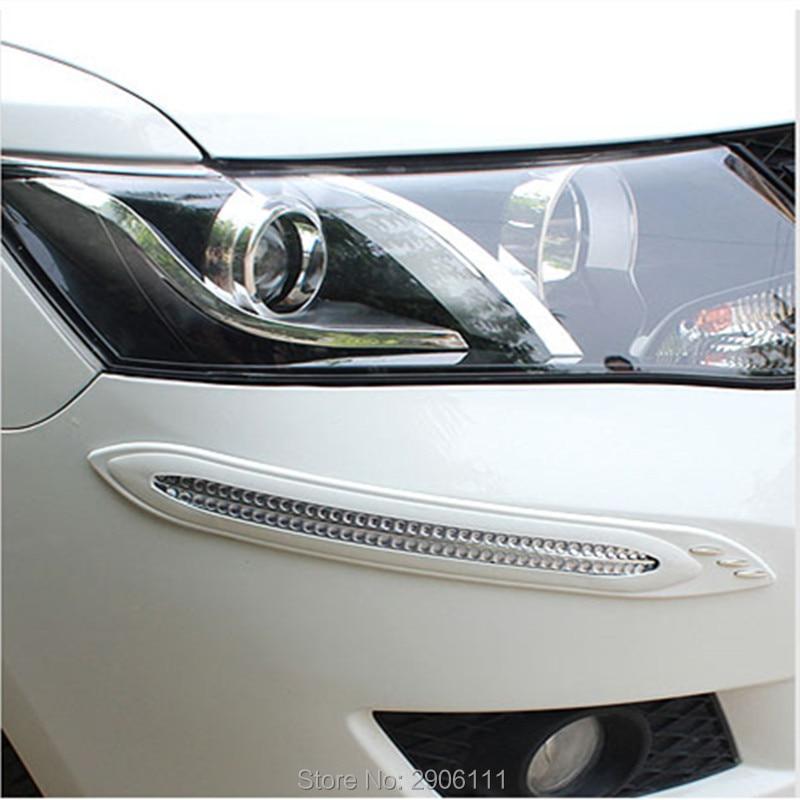 4pcs car anti-collision strip bumper protector Car crash bar anti-rub for SsangYong korando kyron rexton 2 rodius actyon sport ssangyong actyon sports книга