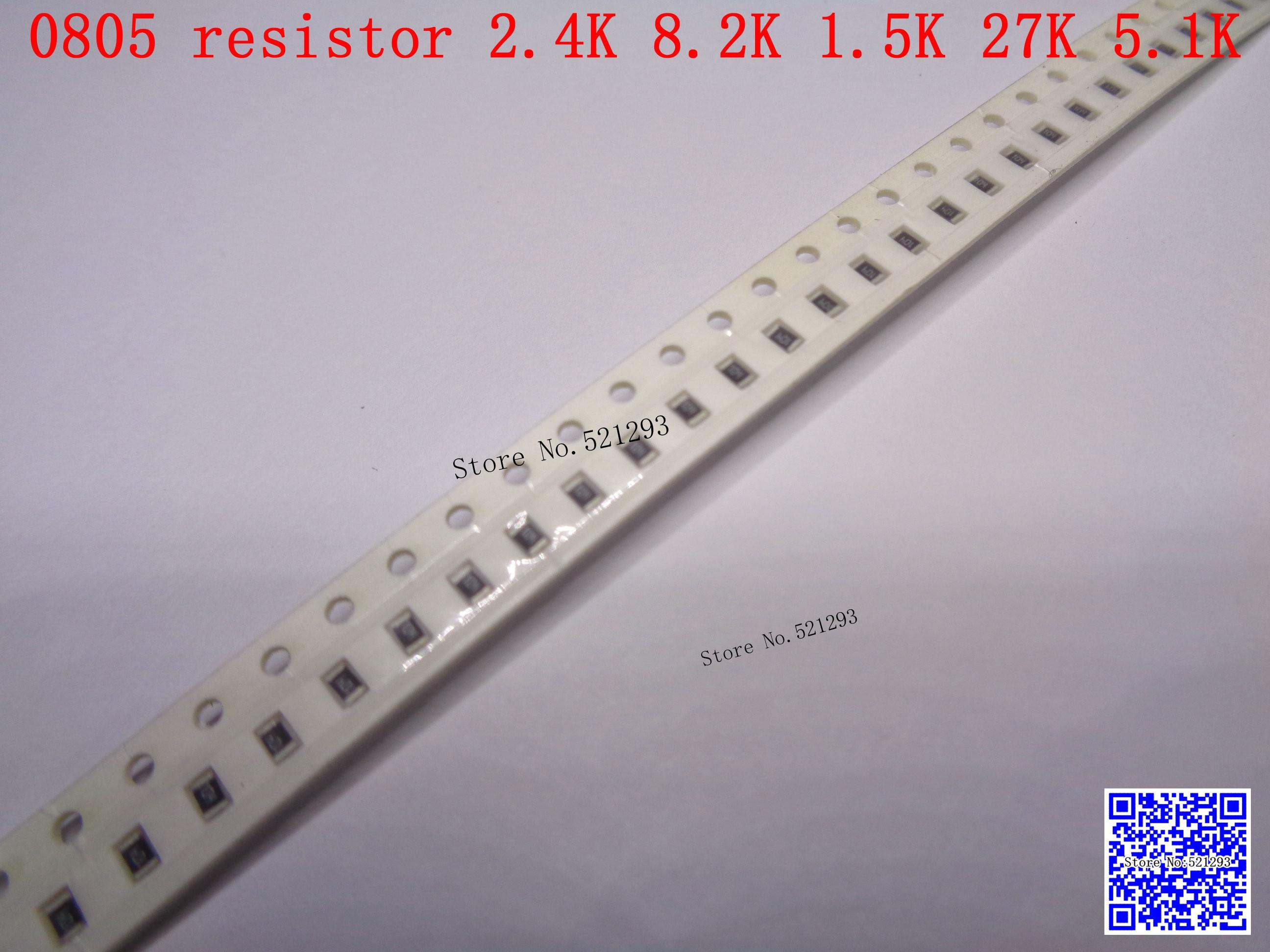 500pcs Nuevo resistor 4k7 Ohm 0805 Smd Rohs