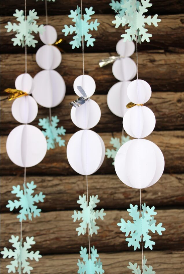 Snowman Decorations Snowflake Garland Winter Party Decor 3D Paper Crafts DIY Baby Room In Christmas From Home Garden On Aliexpress