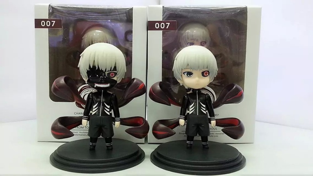 (2pcs/lot) Action figure Tokyo Ghoul Kaneki Ken cartoon doll PVC 10cm box-packed japanese figurine world anime 2 style tokyo ghoul kaneki ken awakened ver pvc action figure collectible model doll toy 22cm