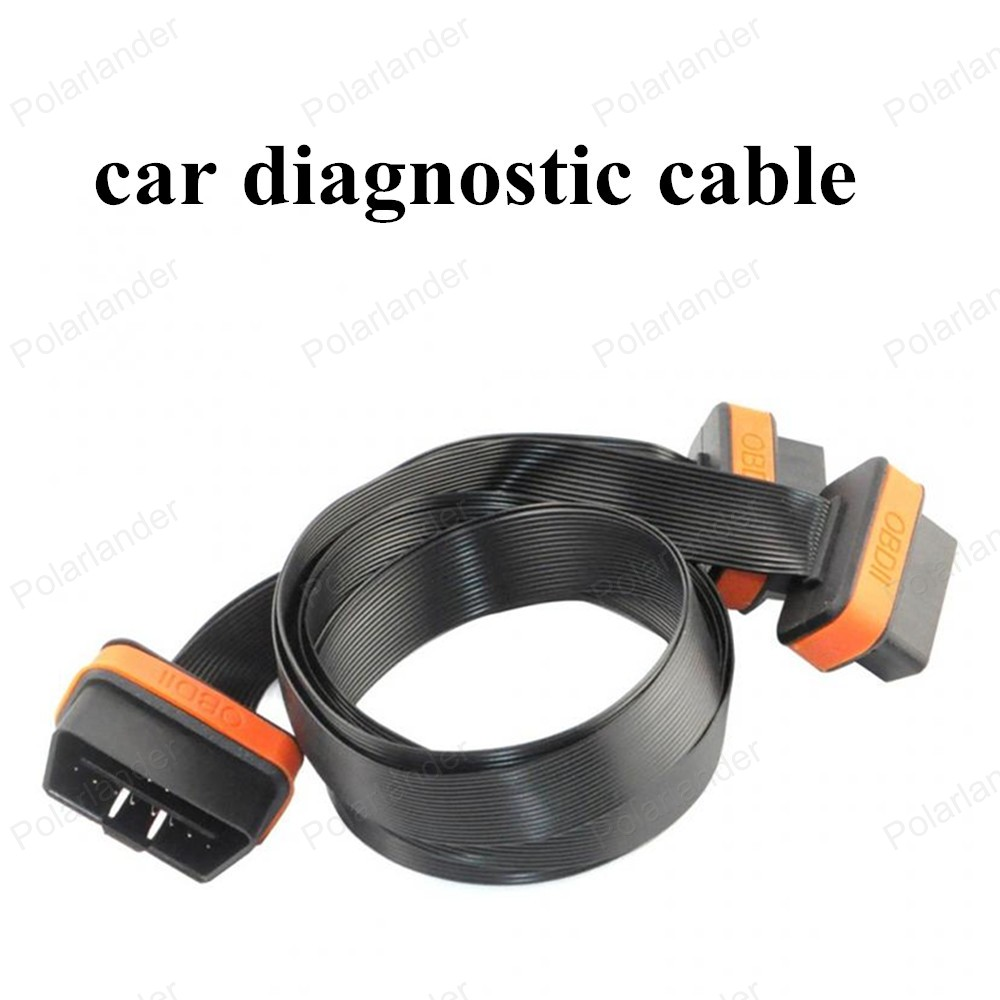 hot sell OBDII Ultra Flat Low Profile 16 Pin Car Scanner Cable Male to Female auto Adapter Connector