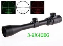 Free shipping 3-9X40EG Hunting Scope Riflescope Red/Green Illuminated military Optic sight sniper Deer Riflescope Scope