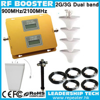 1200sqm RF Wholesale GSM/UMTS 900mhz/2100mhz Dual band 3G LCD cell/mobile phone repeater booster detector repetidor amplifier