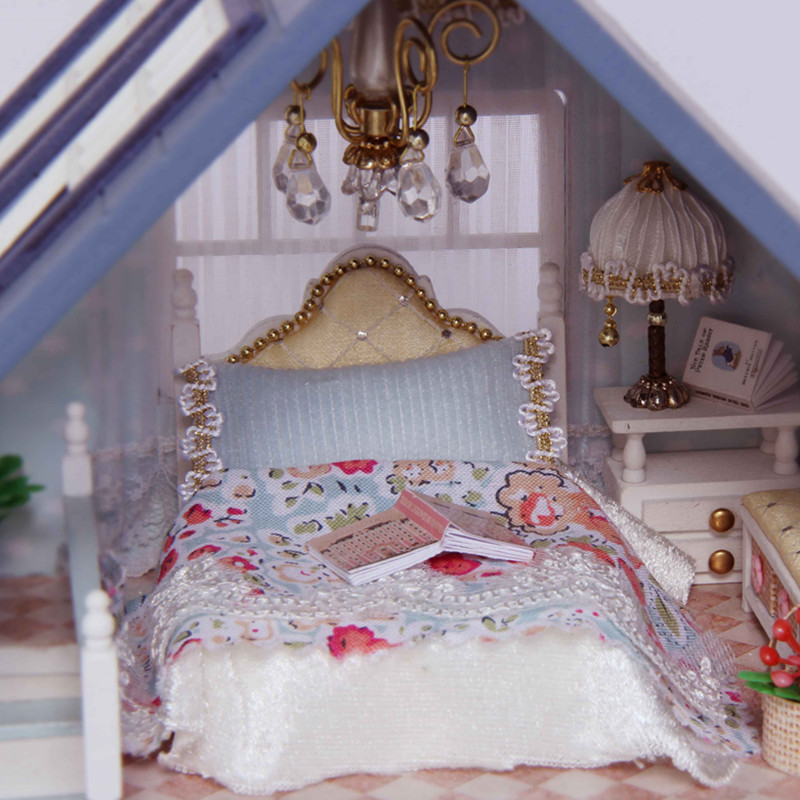 Home Decoration Crafts DIY Doll House Doll Doll Houses Miniature DIY - Anak patung dan aksesori - Foto 5