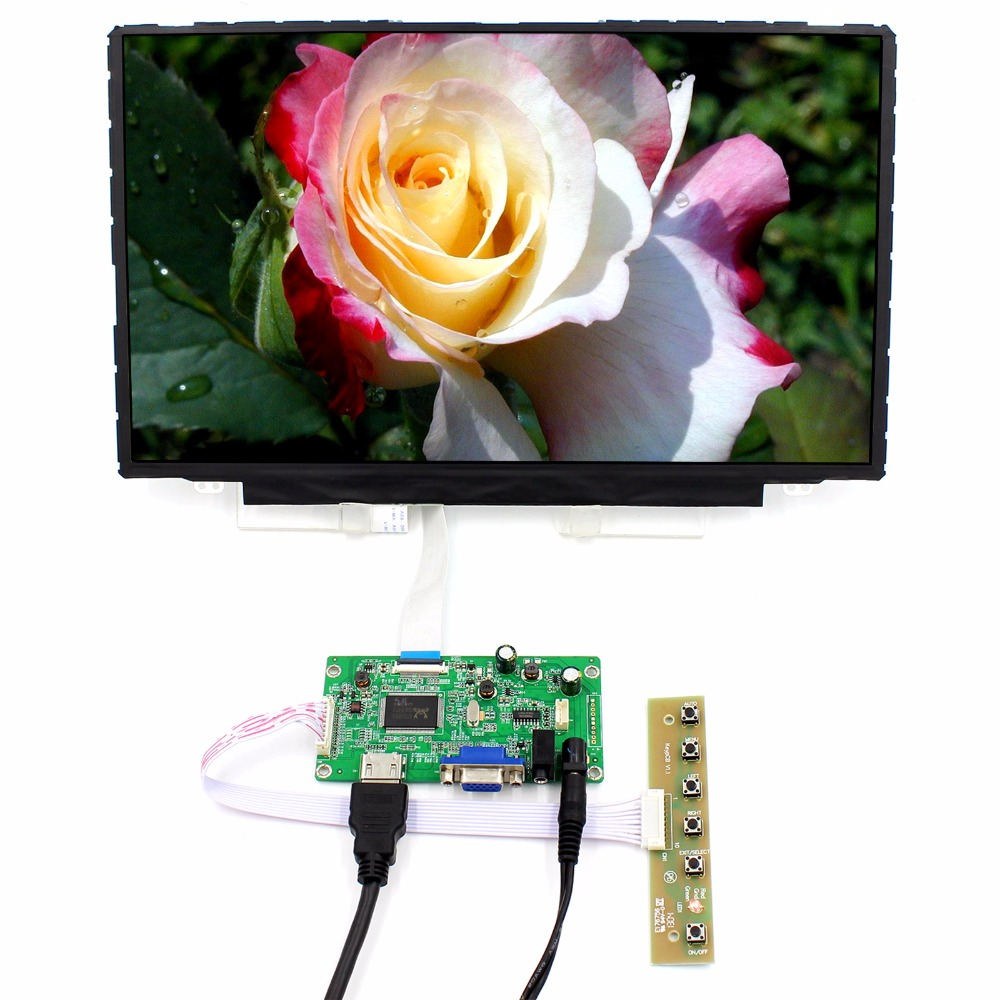 HDMI VGA Audio LCD Controller Board+14 1920x1080 NV140FHM-N44 IPS LCD Screen hdmi vga audio lcd controller board with 11 6inch 1920x1080 n116hse ips lcd screen