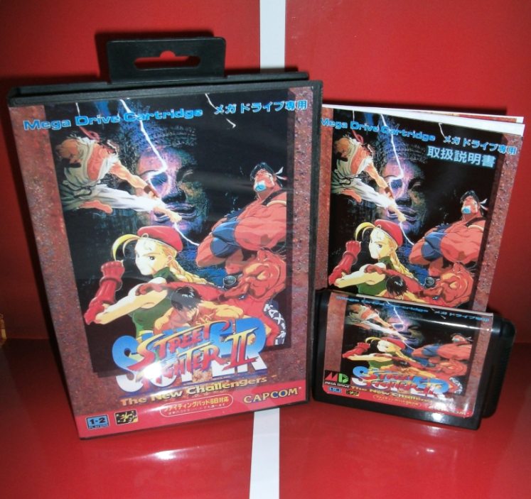 Super Street Fighter II 16P Japan Cover with box and manual for Sega MegaDrive Genesis Video