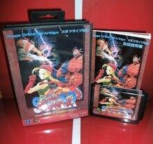 Su P er Street Fighter II 16 P JA p, Обложка с коробкой and руководство для Sega megadrive Genesis игровой консоли 16 бит md карты