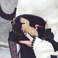Terciopelo Mujeres de Hombro Del Bolso de Embrague 2016 Moda Mini Vintga Bolso Bordado Hecho A Mano Chino Estilo Nacional Retro Mujer Satchel